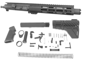8.5 inch AR-15 300 BLACKOUT Pistol Keymod M-LOK Melonite Upper w/Can kit