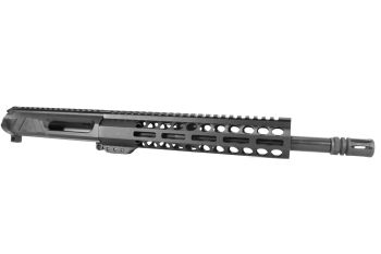 12.5 inch AR-15 Non Reciprocating Side Charging 9x39 Pistol Length M-LOK Keymod Melonite Upper