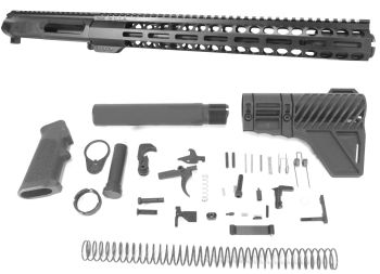 12.5 inch AR-15 Non Reciprocating Side Charging 350 LEGEND Melonite Upper w/can Kit