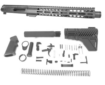 11.5 inch AR-15 NR Side Charging 5.56 Carbine Melonite M-LOK Upper w/Can Complete Kit