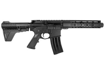 Pro2A Tactical's Patriot 8 inch AR-15 5.56 NATO M-LOK Complete Pistol with Flash Can