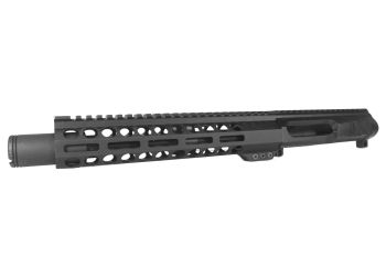9 inch AR-15 LEFT HANDED AR-15 Non Reciprocating Side Charging 300 Blackout Melonite Upper