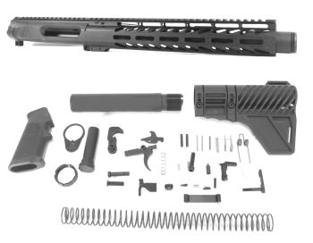 10.5 inch AR-15 NR Side Charging 5.56 NATO (223/5.56) Melonite Upper Kit w/Can Complete Kit