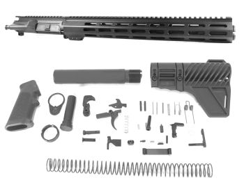 12.5 inch AR-15 5.56 NATO Mid Length M-LOK Melonite Upper w/Can Kit