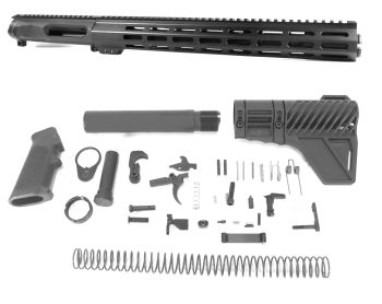12.5 inch AR-15 NR Side Charging 5.56 NATO M-LOK Mid Length Melonite Upper w/CAN Kit