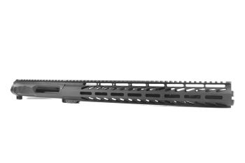 12.5 inch AR-15 Non Reciprocating Side Charging 9x39 Pistol Length M-LOK Keymod Melonite Upper w/Can