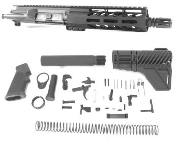 7.5 inch AR-15 AR AR15 300 BLACKOUT Pistol Keymod M-LOK Melonite Upper kit
