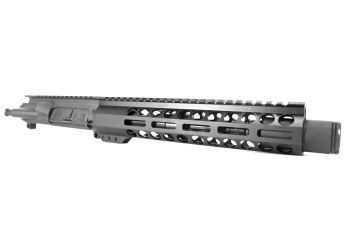8 inch AR-15 5.56 NATO Pistol Length M-LOK Melonite Upper with Flash Can