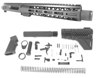8.5 inch AR-15 NR Side Charging 9x39 Russian Caliber M-LOK Complete Upper w/Can Kit