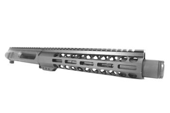 8.5 inch AR-15 Non Reciprocating Side Charging 9x39 Pistol Length M-LOK Melonite Upper w/Can