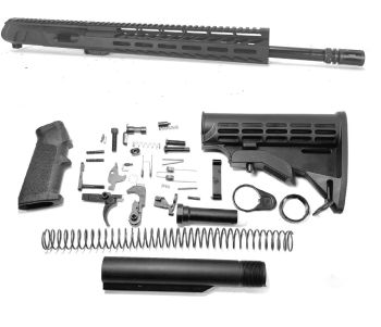 16 inch AR-15 Non Reiciprocating Side Charging 9mm Pistol Caliber Melonite Upper Complete Kit