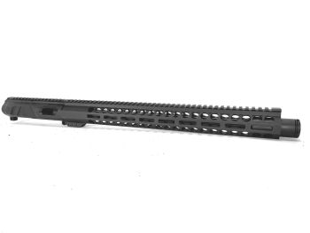 16 inch AR-15 Non Reciprocating 9mm Pistol Caliber Melonite Upper with Flash Can