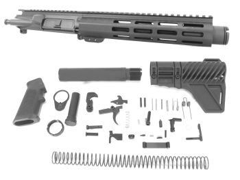 7.5 inch AR-15 300 BLACKOUT Melonite Pistol Upper w/Can Complete kit