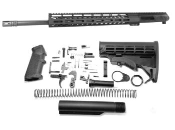 20 inch AR-15 LEFT HANDED AR-15 Non Reciprocating Side Charging 224 Valkyrie M-LOK Melonite Upper Complete Kit