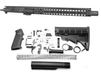 16 inch AR-15 300 BLACKOUT M-LOK Melonite Upper w/CAN Complete Kit