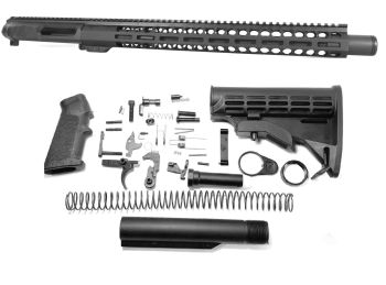 16 inch NR Side Charging 300 Blackout Melonite Upper w/Can Complete Kit
