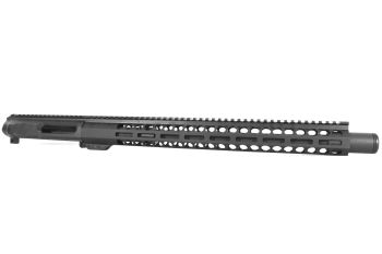 16 inch AR-15 NR Side Charging 300 BLACKOUT M-LOK Keymod Melonite Upper with Flash Can