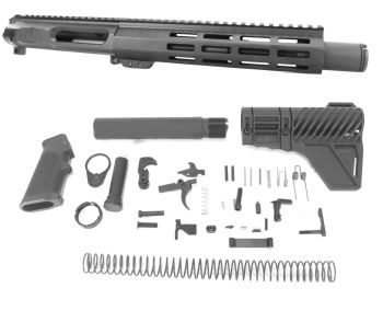 8 inch AR-15 NR Side Charging 5.56 NATO Melonite Upper w/Can Kit