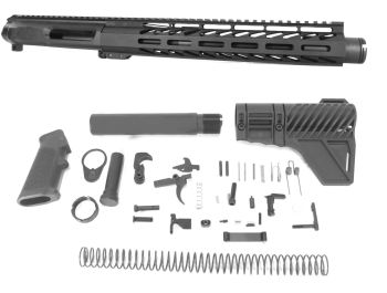 10.5 inch AR-15 NR Side Charging 9x39 Russian Caliber M-LOK Complete Upper w/Can Kit