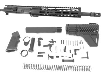 12.5 inch AR-15 9x39 Russian Caliber M-LOK Keymod Melonite Upper Kit