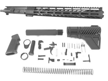 12.5 inch AR-15 9x39 Russian Caliber M-LOK Melonite Upper w/Flash Can Kit