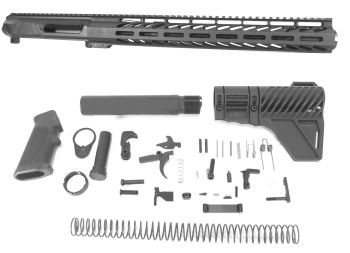 12.5 inch AR-15 NR Side Charging 9x39 Russian Caliber M-LOK Melonite Complete Upper w/Can Kit