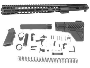 12.5 inch AR-15 LEFT HANDED AR-15 Non Reciprocating Side Charging 350 Legend Melonite Upper w/Can Complete Kit