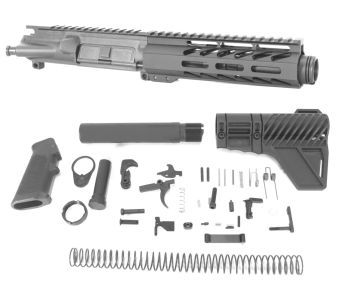 5 inch AR-15 5.56 NATO Micro Melonite M-LOK Upper w/Can Complete Kit