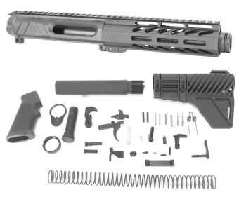 5 inch AR-15 AR15 Non Reciprocating Side Charging 7.62x39 Melonite Upper w/Can Kit