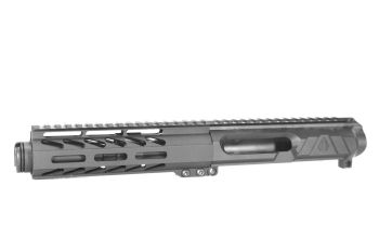 5 inch LEFT HANDED AR-15 NR Side Charging 5.56 NATO Melonite Upper w/Can
