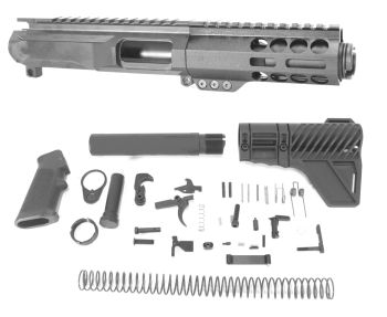 3 inch AR-15 AR15 AR 9mm Pistol Caliber Melonite Upper w/Can Complete Kit