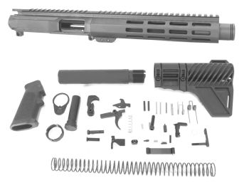 8 inch AR-15 9mm Pistol Caliber Melonite Upper w/Can Complete Kit
