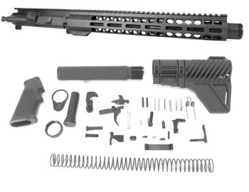 11.5 inch AR-15 5.56 NATO Carbine M-LOK Keymod Melonite Upper w/Can Complete Kit