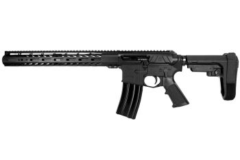 Pro2A Tactical's Valiant LEFT HAND 12.5 inch AR-15 5.56 NATO M-LOK Complete Side Charging Pistol with Flash Can