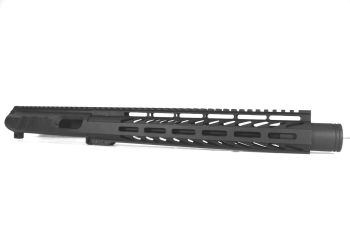 11 inch AR-15 Non Reciprocating Side Charging 9mm Upper with Flash Can