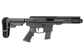 Pro2A Tactical's Valiant 5 inch AR-15 AR-49 9mm M-LOK Complete Pistol with Flash Can