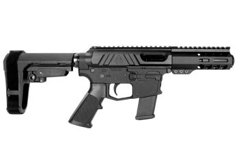Pro2A Tactical's Valiant 5 inch AR-15 AR-45 45 ACP M-LOK Complete Pistol with Flash Can