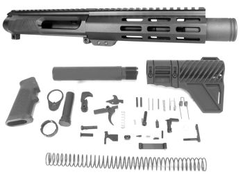 6 inch AR-15 AR15 Non Reciprocating Side Charging 300 BLACKOUT Melonite Upper w/Can Kit