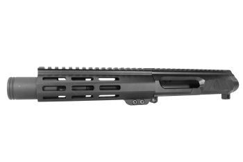 6 inch AR-15 LEFT HANDED AR-15 Non Reciprocating Side Charging 300 Blackout Pistol Melonite Upper w/Can