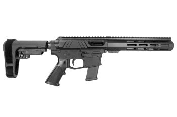 Pro2A Tactical's Valiant 7.5 inch AR-15 AR-45 45 ACP M-LOK Complete Pistol with Flash Can