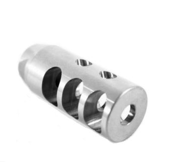 Competition Style Muzzle Brake Stainless 1/2-28