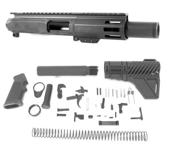 4 inch AR-15 45 ACP Pistol Caliber Melonite Upper w/CAN Complete Kit