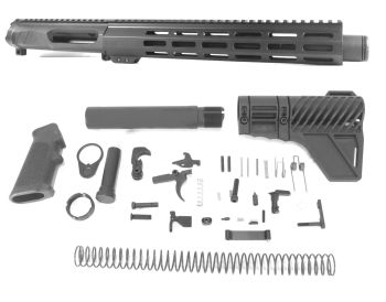 10.5 inch AR-15 NR Side Charging 223 Wylde (223/5.56) Melonite Upper Kit w/Can Complete Kit