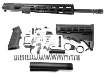 16 inch AR-15 Non Reciprocating Side Charging 45 ACP Melonite Upper Complete Kit