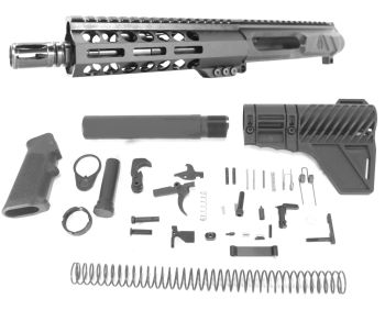 7.5 inch AR-15 LEFT HANDED AR-15 Non Reciprocating Side Charging 300 Blackout Pistol Melonite Upper Complete kit