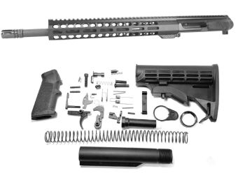 16 inch AR-15 LEFT HANDED AR-15 Non Reciprocating Side Charging 300 Blackout Melonite Upper Complete Kit