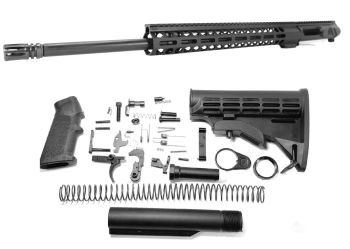 22 inch AR-15 LEFT HANDED AR-15 Non Reciprocating Side Charging 224 Valkyrie M-LOK Melonite Upper Complete Kit
